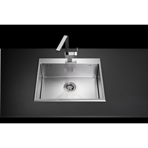 SINK  ROUND-CONNER SQUARE BOWL MEX Mod.SR60 (S/S)