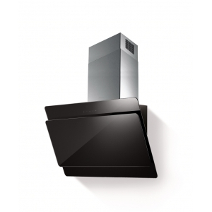 METRIX 80 CM GLASS AND STAINLESS STEEL CHIMNEY HOOD Mod.DOPPIO BL
